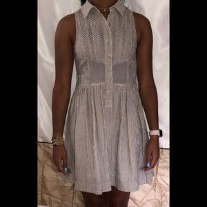 Brown/Beige Sleeveless Dress